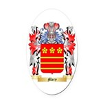Mery Oval Car Magnet