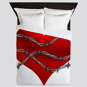 3-Heart-barbed-01 Queen Duvet