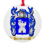 Mertz Round Ornament