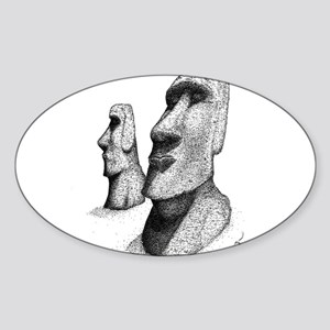 10x10_apparel_moai Sticker