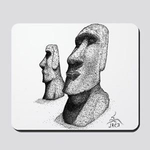 10x10_apparel_moai Mousepad
