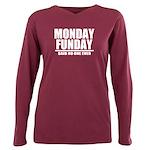 Monday Funday Plus Size Long Sleeve Tee