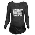 Monday Funday Long Sleeve Maternity T-Shirt