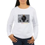 Women's Long Sleeve T-Shirt: Vintage Front/bac