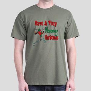 Moooey Christmas Cows Dark T-Shirt