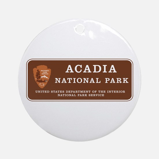 Acadia National Park, Maine Round Ornament