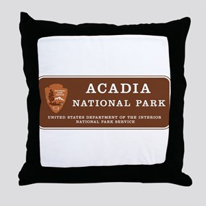 Acadia National Park, Maine Throw Pillow