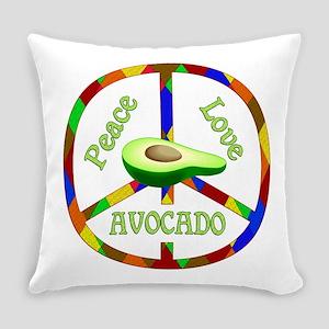 Peace Love Avocado Everyday Pillow