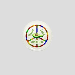 Peace Love Avocado Mini Button