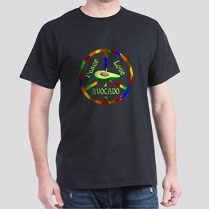 Peace Love Avocado Dark T-Shirt