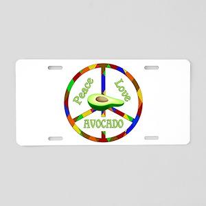 Peace Love Avocado Aluminum License Plate