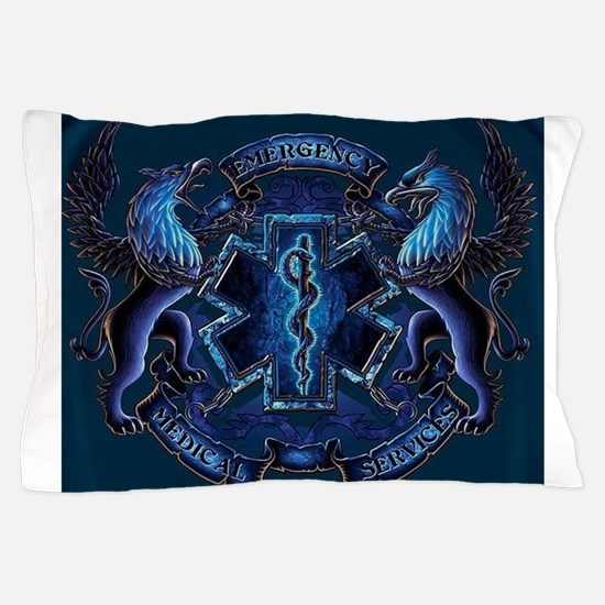 EMS Blue Pillow Case