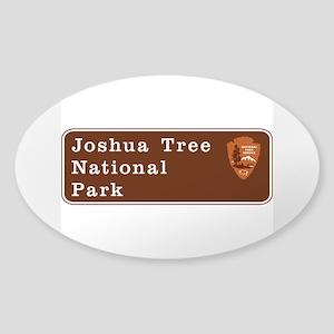 Joshua Tree National Park, Californ Sticker (Oval)
