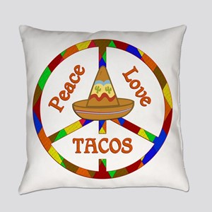 Peace Love Tacos Everyday Pillow