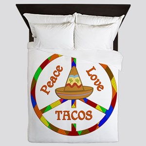 Peace Love Tacos Queen Duvet