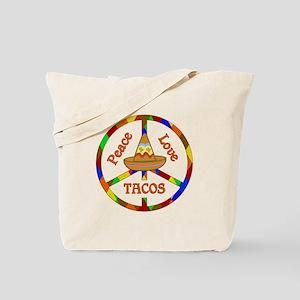 Peace Love Tacos Tote Bag