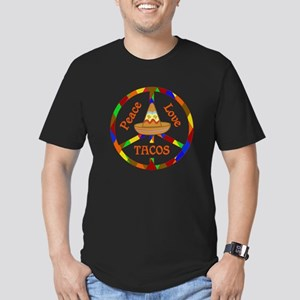 Peace Love Tacos Men's Fitted T-Shirt (dark)