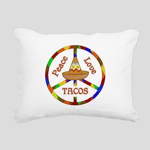 Peace Love Tacos Rectangular Canvas Pillow