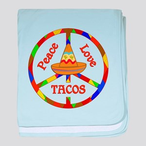 Peace Love Tacos baby blanket