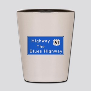 The Blues Highway 61, TN & MS Shot Glass