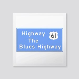 """The Blues Highway 61, TN & Square Sticker 3"""" x 3"""""""