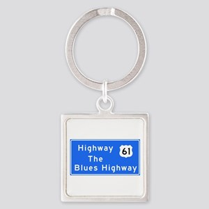 The Blues Highway 61, TN & MS Square Keychain