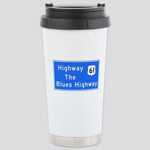 The Blues Highway 61, T Stainless Steel Travel Mug