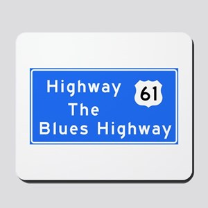 The Blues Highway 61, TN & MS Mousepad