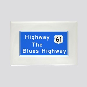 The Blues Highway 61, TN & MS Rectangle Magnet