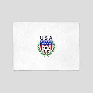 USA Soccer Crest 5'x7'Area Rug