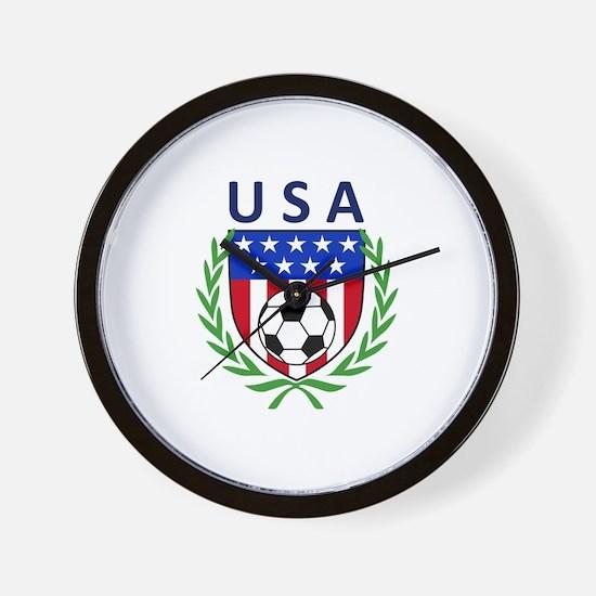 USA Soccer Crest Wall Clock