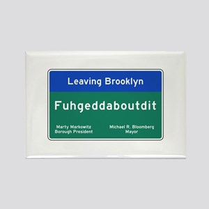 Fuhgeddaboudit, Brookly Rectangle Magnet (10 pack)