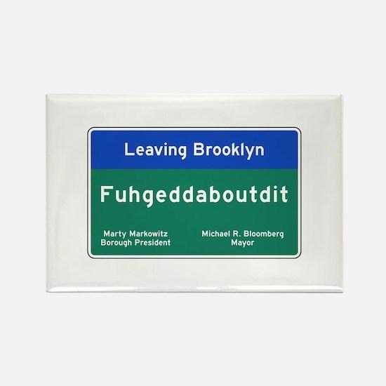 Fuhgeddaboudit, Brookly Rectangle Magnet (10 pack)