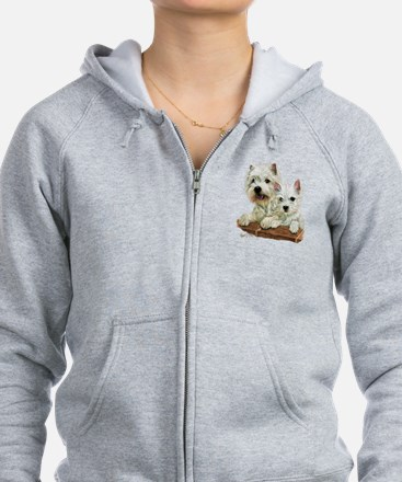 Cute West highland terrier cute westies Zip Hoodie