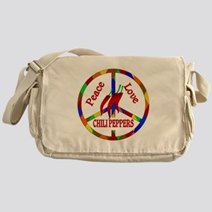Peace Love Chili Peppers Messenger Bag