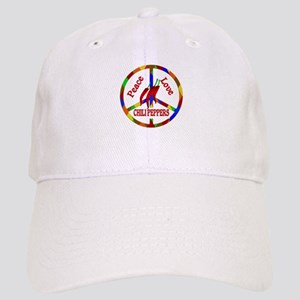 Peace Love Chili Peppers Cap