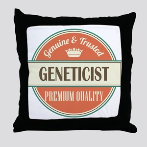 geneticist vintage logo Throw Pillow