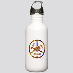 Peace Love Bacon Stainless Water Bottle 1.0L