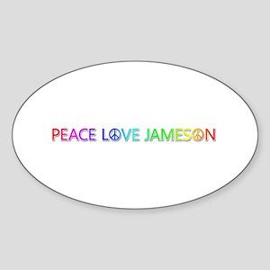 Peace Love Jameson Oval Sticker