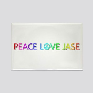 Peace Love Jase Rectangle Magnet