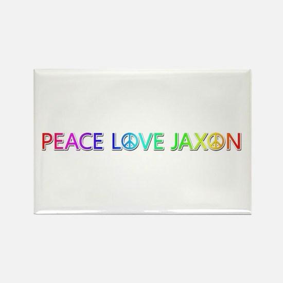 Peace Love Jaxon Rectangle Magnet