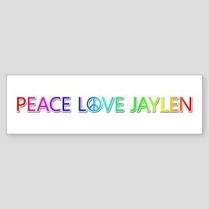 Peace Love Jaylen Bumper Sticker