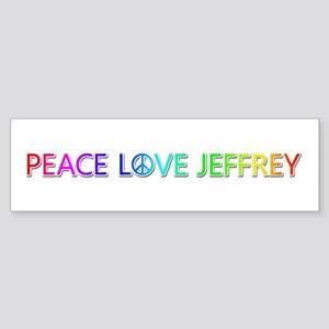 Peace Love Jeffrey Bumper Sticker