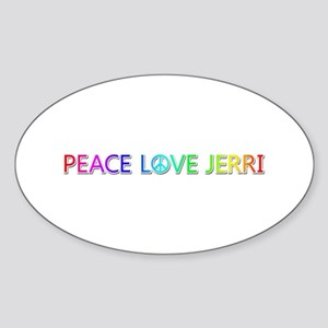 Peace Love Jerri Oval Sticker