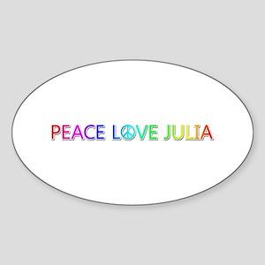 Peace Love Julia Oval Sticker