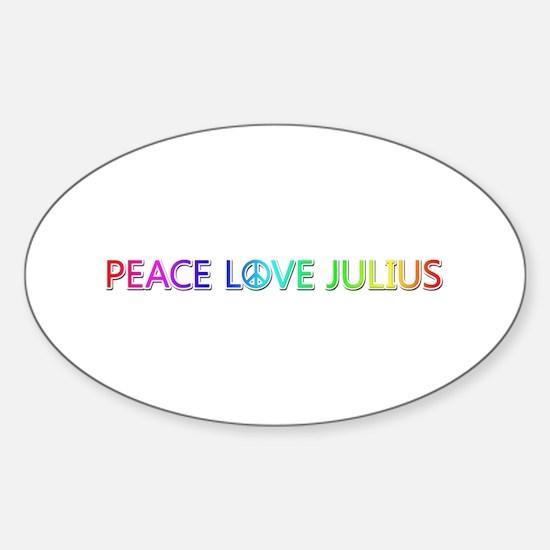 Peace Love Julius Oval Decal