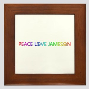 Peace Love Jameson Framed Tile