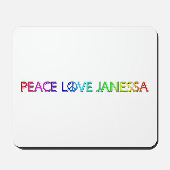 Peace Love Janessa Mousepad