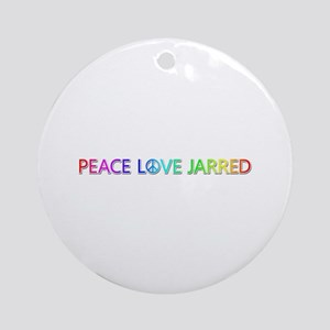 Peace Love Jarred Round Ornament