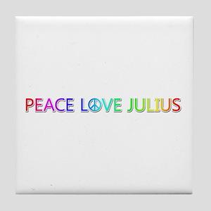 Peace Love Julius Tile Coaster